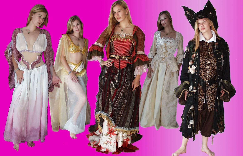 Kostüme aus Fluch der Karibik und Dracula's Bräute