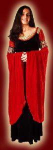 Arwens rotschwarzes Kleid